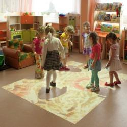 Interactive floor in a kindergarten